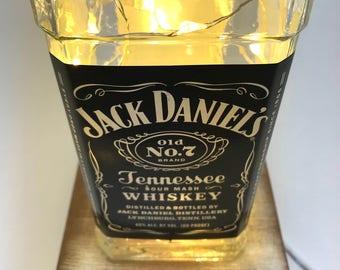 Jack Daniels Whiskey Bottle Customizable Outlet Powered/Plug-In LED Light Gift