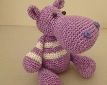 Handmade Little hippo Amigurumi crochet, gift ideas, gadgets, padded toy, unique piece, made in Sicily, knited toys