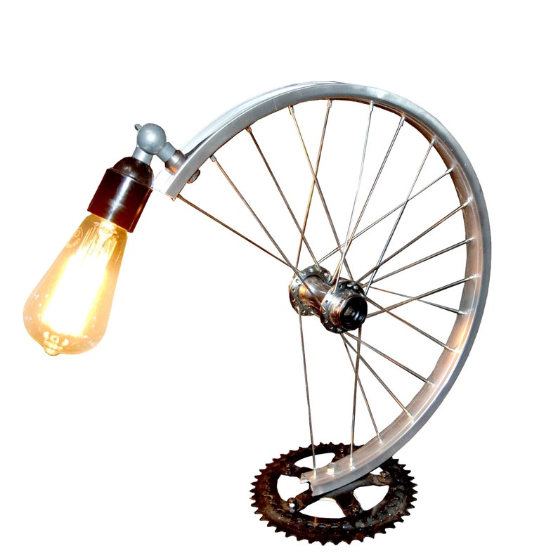 Bicycle Parts Desk Lamp Etsy