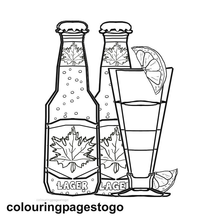 Grown Up Colouring Page Beer Colouring Page Party Time Colouring
