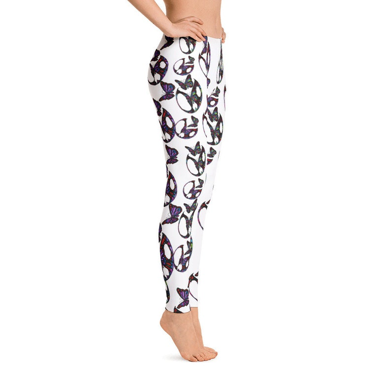 Butterfly Leggings Step into fashion and inspired by nature Purple Butterfly theme stylish durable and a hot fashion staple check it out