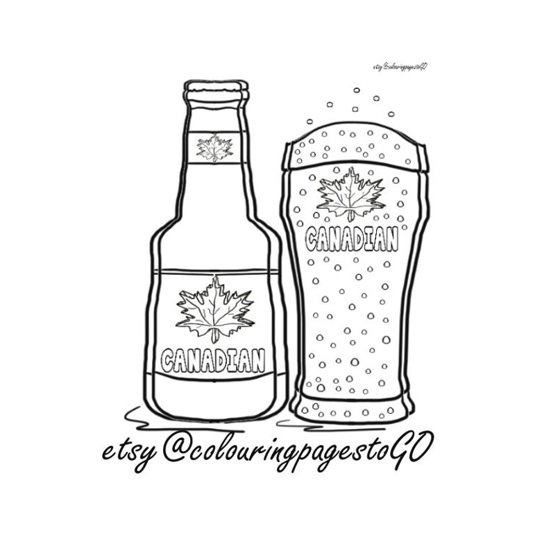 Beer Husband And Wife Grey Scale Colouring Page Fun Beer Etsy
