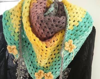 Crochet Spring scarf