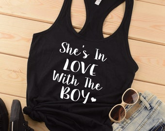 Shes In Love With The Boy Country Tank Top Country Shirt Concert Drinking Southern