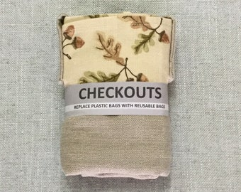 Reusable shopping  bag, replace plastic bags  with CHECKOUTS