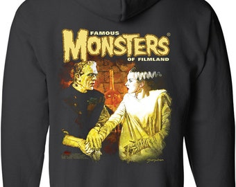 847de5330788 Famous Monsters Frank and Bride Forever Zip Front Hoodie - SDCC Exclusive