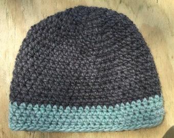 Gray Crochet Wool Beanie ad1b5c551e50