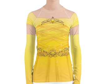 Belle Inspired Running Costume Top for Marathon Weekend   Belle Costume   Princess Running Shirt   Beauty and the Beast