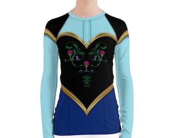 Anna Inspired Running Costume Top for Princess Run Half Marathon Weekend   Anna Costume   Norwegian Princess Shirt for Women   Frozen