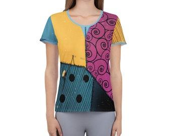 Sally Nightmare Inspired Running Costume Performance Shirt for Wine & Dine   Princess Half Marathon Weekend   Halloween
