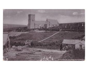 Crantock Church, Near Newquay Silverette Raphael Tuck & Sons Hartnoll's Series NEWQUAY postcard