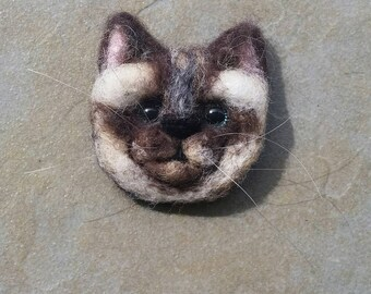 Siamese Cat Brooch