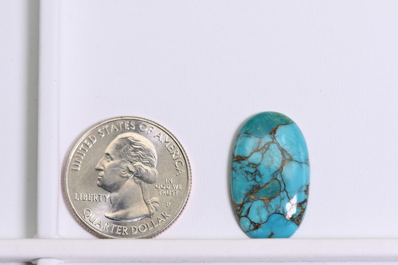 oval Copper Turquise cabochon