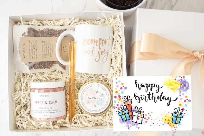 Birthday Spa Gift Box Mom From Son For