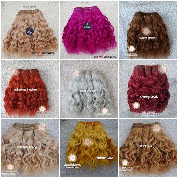 10g choice of colours Doll Hair Reborn mohair rooting bjd Blythe