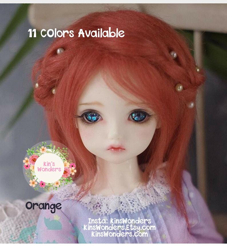 1 6 6-7 BJD Wig YOSD BABY DOD AOD Dollfie Doll Head Barbie  Hair Blonde