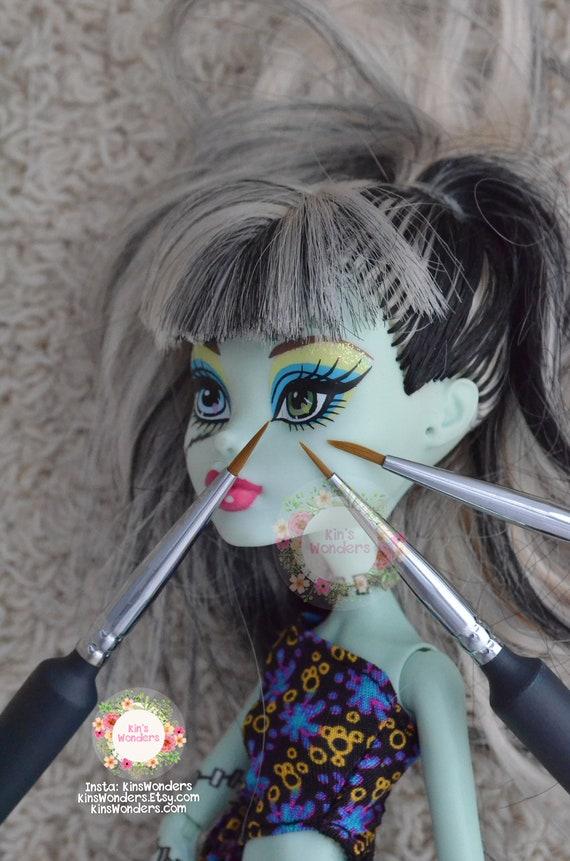 Doll toy eyelashes Black Brown White 3 10mmx20cm Doll making custom OOAK Blythe