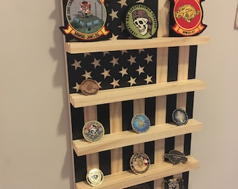 Military Challenge Coin Rack American Flag Coin Display Holder Wooden Coin Rack Retirement Gift Idea Military Gifts Wall Mounted Rack  sc 1 st  Etsy & Military gifts | Etsy