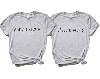 Best friends shirt set, Tall girl shirt, short girl shirt, Besties tees, Best Friends shirt matching, Christmas gift for bestie, best friend
