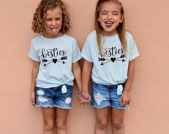 Besties Shirts for Girls / Girls Best Friends shirts / BFF youth tshirts / Kids best friend shirts for 2 / Best Friends gift / besties shirt
