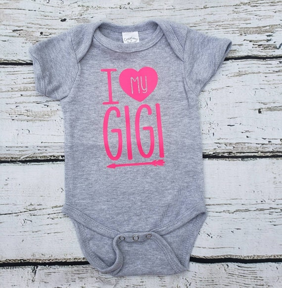 I Love My Gigi Grandma Baby Bodysuit Valentines Day Baby Outfit