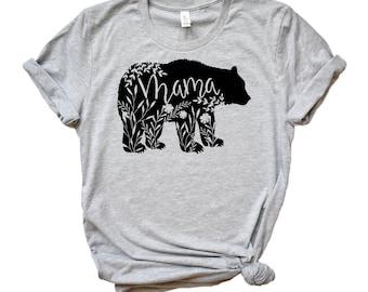 Mama Bear Shirt Plus Size Mama Bear T Shirt Mom Shirt Womens T shirt Mother Day Shirt Wife Shirt Family Shirts Bear tee for Mom Mothers Day