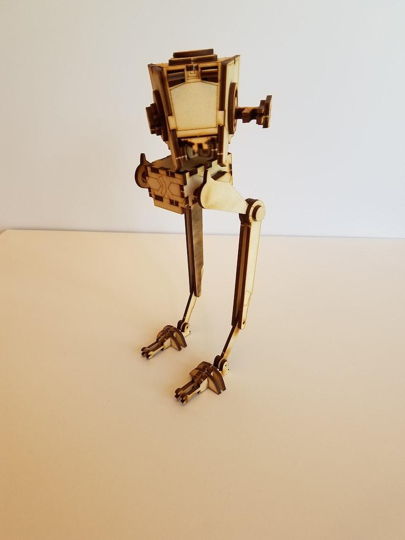 Star Wars AT-ST Walker Laser Cut Model Kit - Medium