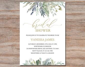 printable wedding shower invitations