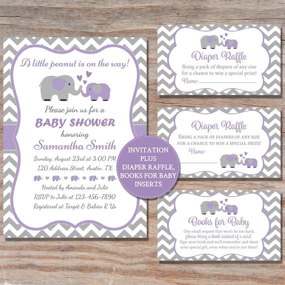 Elephant Baby Shower Invitation Elephant Baby Shower Invite Etsy