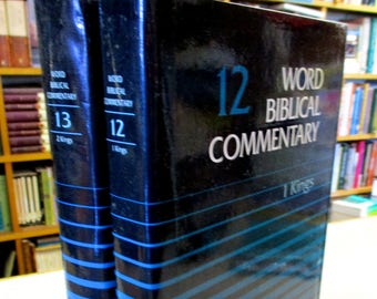 Bible commentary etsy 2 word biblical commentary set i kings volume 12 2 kings volume 13 christian books bible fandeluxe Image collections
