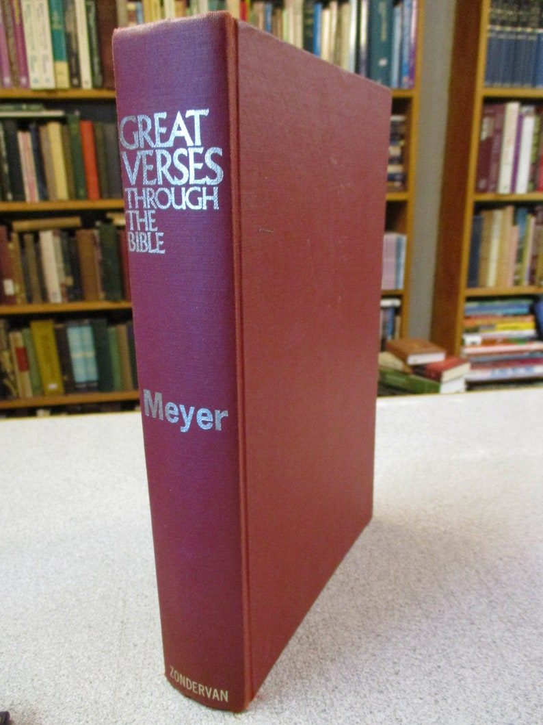 Vintage F B MEYER - Great VERSES Of The BIBLE - Devotional on Key Verses -  Commentary - Hardcover - Classic Christian Books - Used
