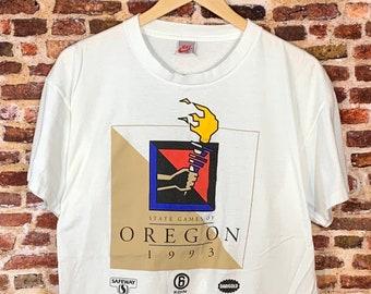 Vintage Nike 1992 State of Oregon Games Men's Large Tee Shirt RARE