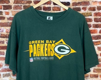 Vintage 90's GREEN BAY PACKERS Men's Large Tee Shirt Rare made by Starter