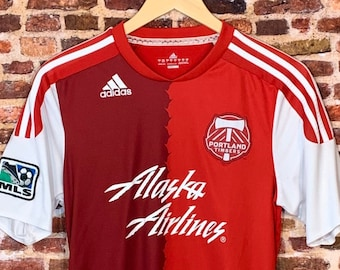 Portland Timbers Inaugural MLS Season Men's Small Autographed Away Jersey RARE made by Adidas