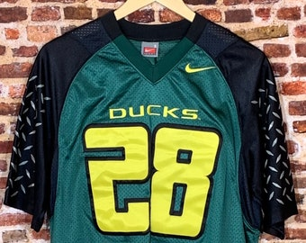 Vintage Oregon Ducks Football Men's Small Stitched #28 Jonathan Stewart Jersey RARE made by Nike