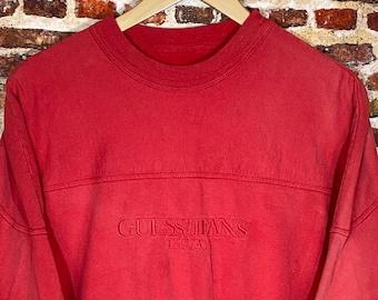 Vintage 80's Guess Jeans by Georges Marciano Men's Medium Crewneck Sweatshirt Rare