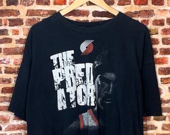 "Gerald Wallace Portland Trail Blazers ""The Predator"" Men's 2XL Tee Shirt Rare"