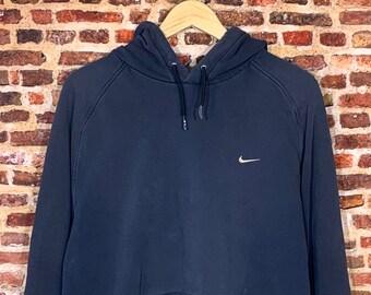 Vintage Nike Men's XL Classic Mini Swoosh Hoodie Sweatshirt RARE