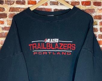Vintage 90's Portland Trail Blazers Men's 3XL All Embroidered Crewneck Sweatshirt Rare