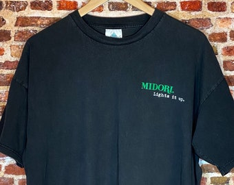 Vintage 90's Midori Liquor Men's XL Tee Shirt