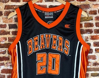 Vintage Gary Payton Oregon State Beavers Basketball Men's Small #20 Stitched Jersey Rare made by Colosseum