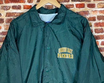 Vintage Early 90's Green Bay Packers Men's Medium Sideline Coach's Jacket Rare made by Logo 7