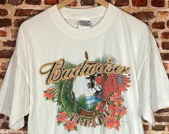 Vintage Budweiser Paradise Men's XL Graphic Tee Shirt