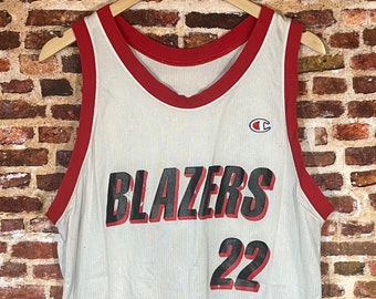 Vintage Early 90's Clyde Drexler Portland Trail Blazers Men's Medium Jersey Rare made by Champion