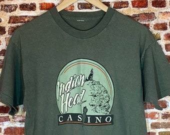 Vintage 80's Lucky Head Casino Men's Large Graphic Tee Shirt