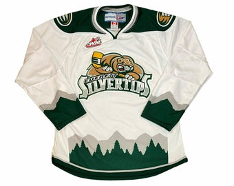 Vintage Everett Silvertips Men's Medium World Hockey League Stitched Hockey Jersey made by Reebok