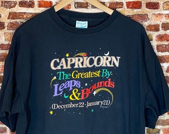 Vintage Early 90's Capricorn Men's XL Graphic Tee Shirt