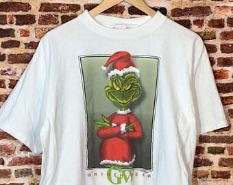 "Vintage 90's Dr Suess The Grinch ""Grinchwear"" Men's XL Tee Shirt Rare"