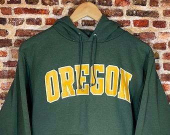 Vintage Champion Oregon Ducks Men's Small Classic Spell-Out Hoodie Sweatshirt