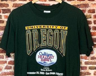 Vintage OREGON DUCKS Football 2000 Holiday Bowl Men's Medium Tee Shirt RARE